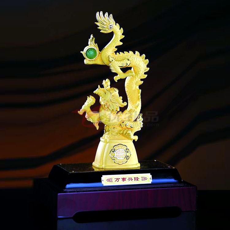 绒沙金工艺品2012龙年万事兴隆