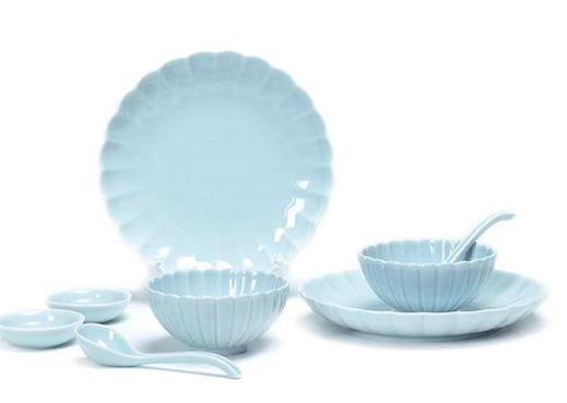 新中式8头  莲花餐具