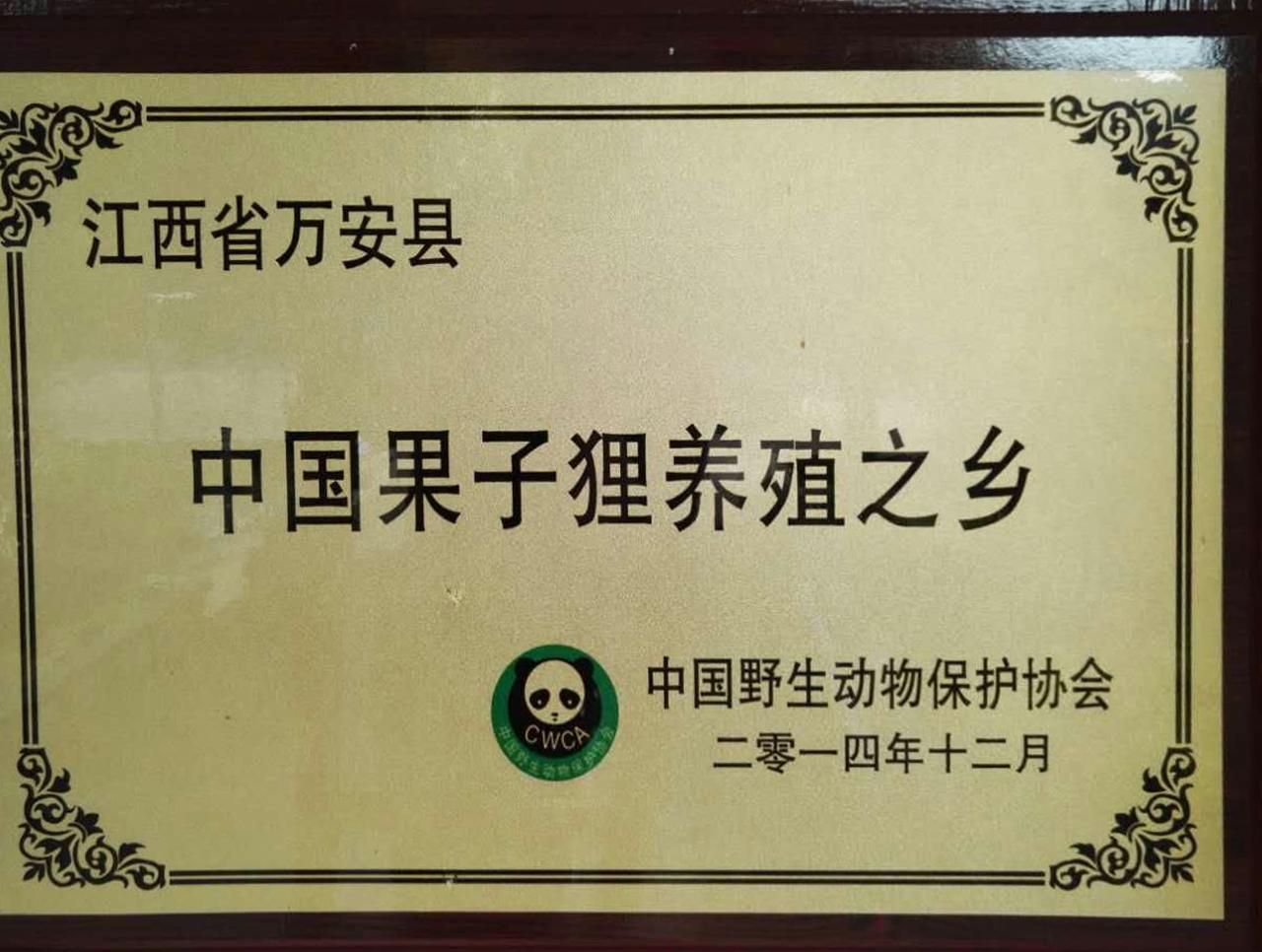 中国果子狸养殖之乡