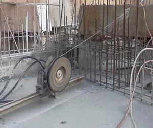 混凝土结构切割时温度过高该如何降温  新疆绳锯切割厂家来宣宣