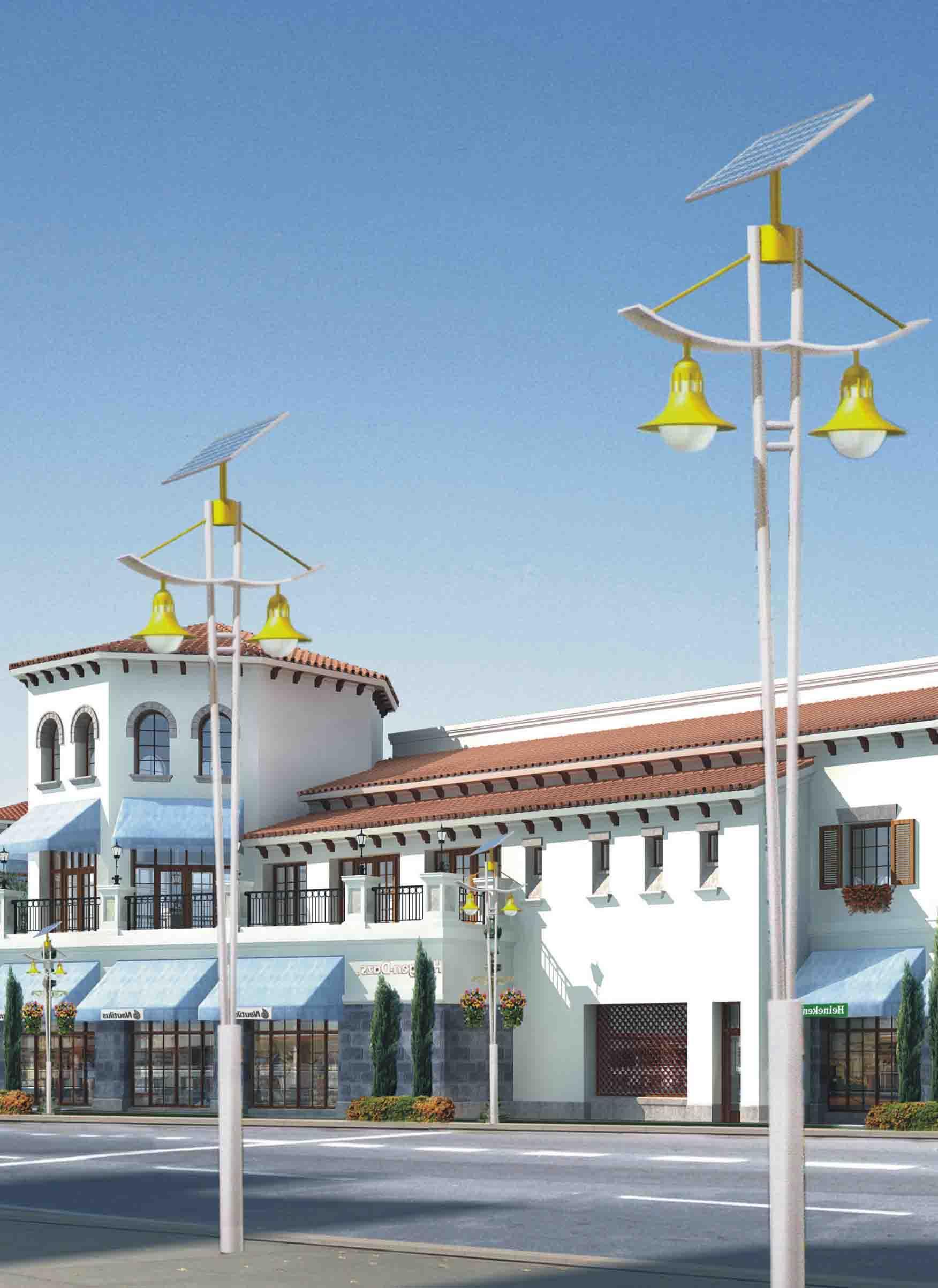 新疆LED太阳能庭院灯安装