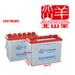 理士清洁设备专用加液电瓶12v90AH