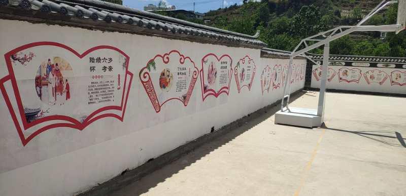 室外文化墙彩绘