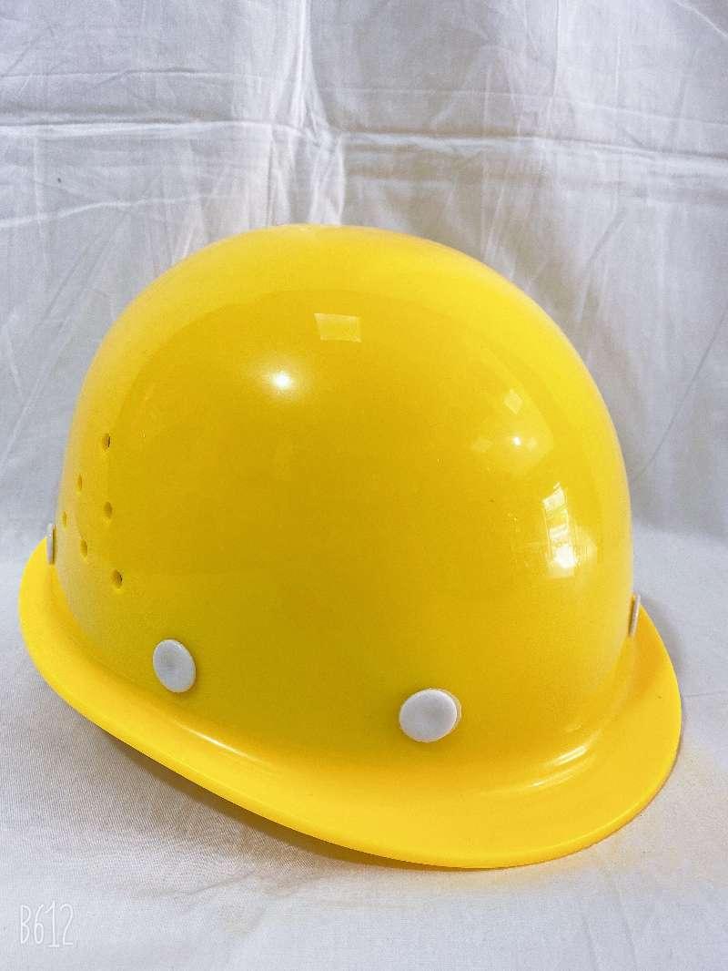 钰恒威-C玻璃钢黄色透气孔安全帽