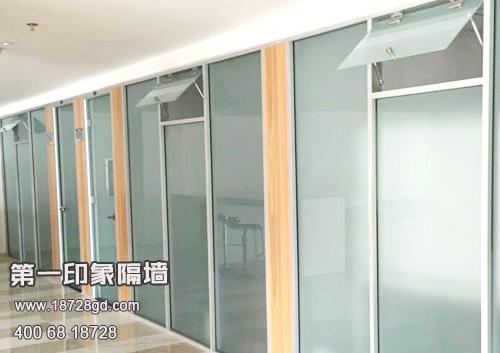 单玻通顶办公室玻璃隔断