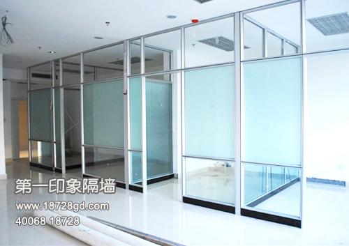 双玻百叶玻璃隔断隔墙