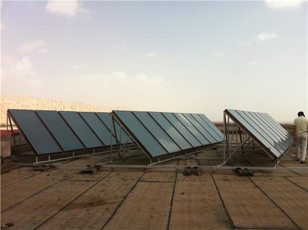喀什某部队60吨平板热水工程