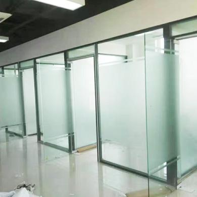 办公室单层玻璃隔断