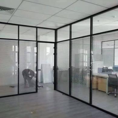 铝合金玻璃隔断安装