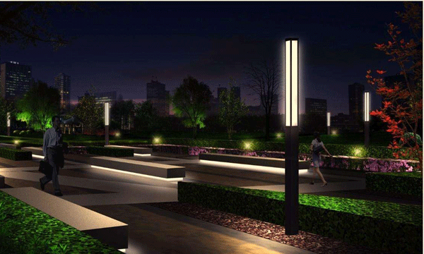 花园安装庭院灯时一定要注意色彩和风格搭配