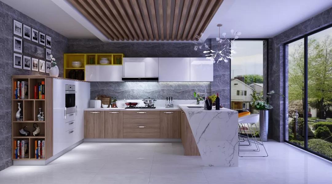 跃居全铝居家推荐整体橱柜定制一体化美观大方