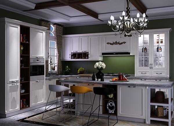 佛山全铝橱柜定制,小厨房橱柜U型形状合适
