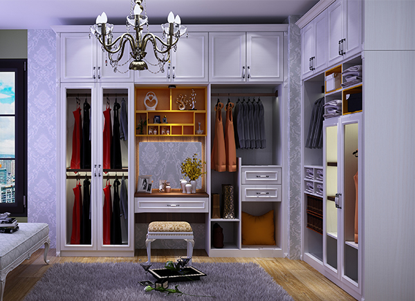 全铝衣帽间衣柜