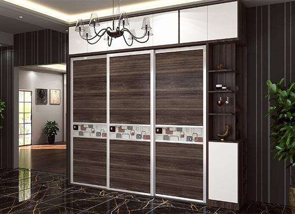 玻璃门板全铝衣柜