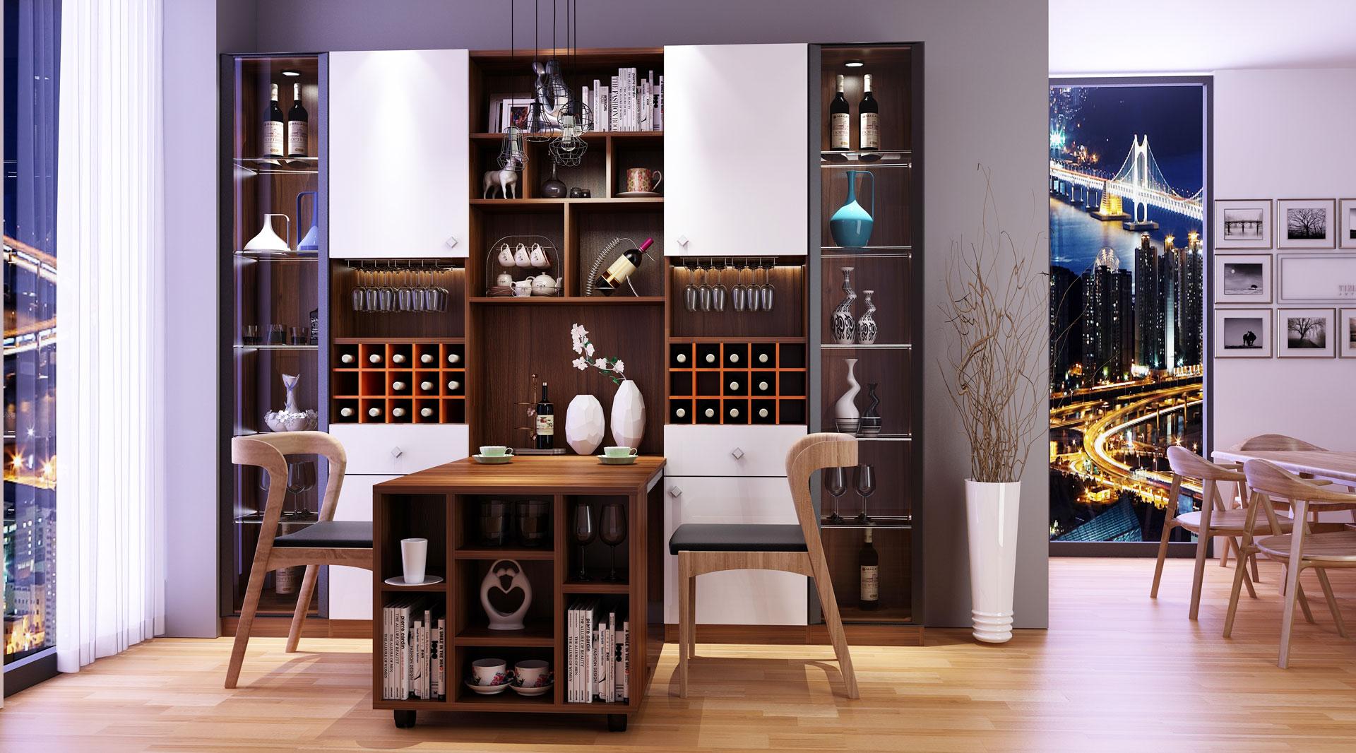北欧风格酒柜