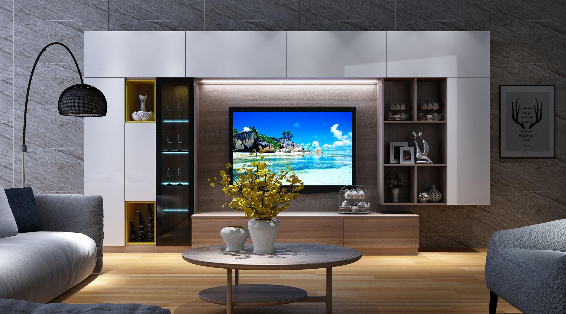 全铝简约现代电视柜