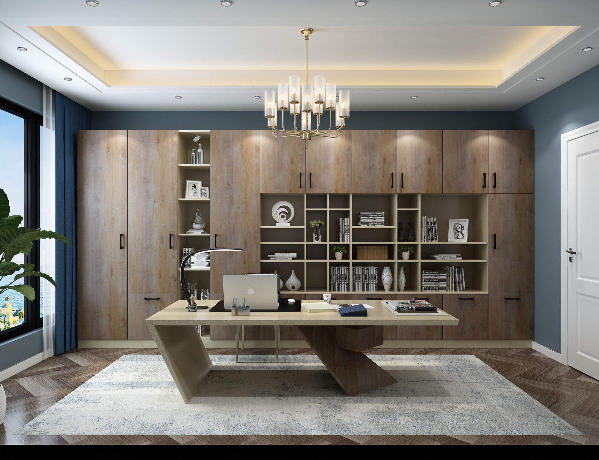 全铝简约现代书柜