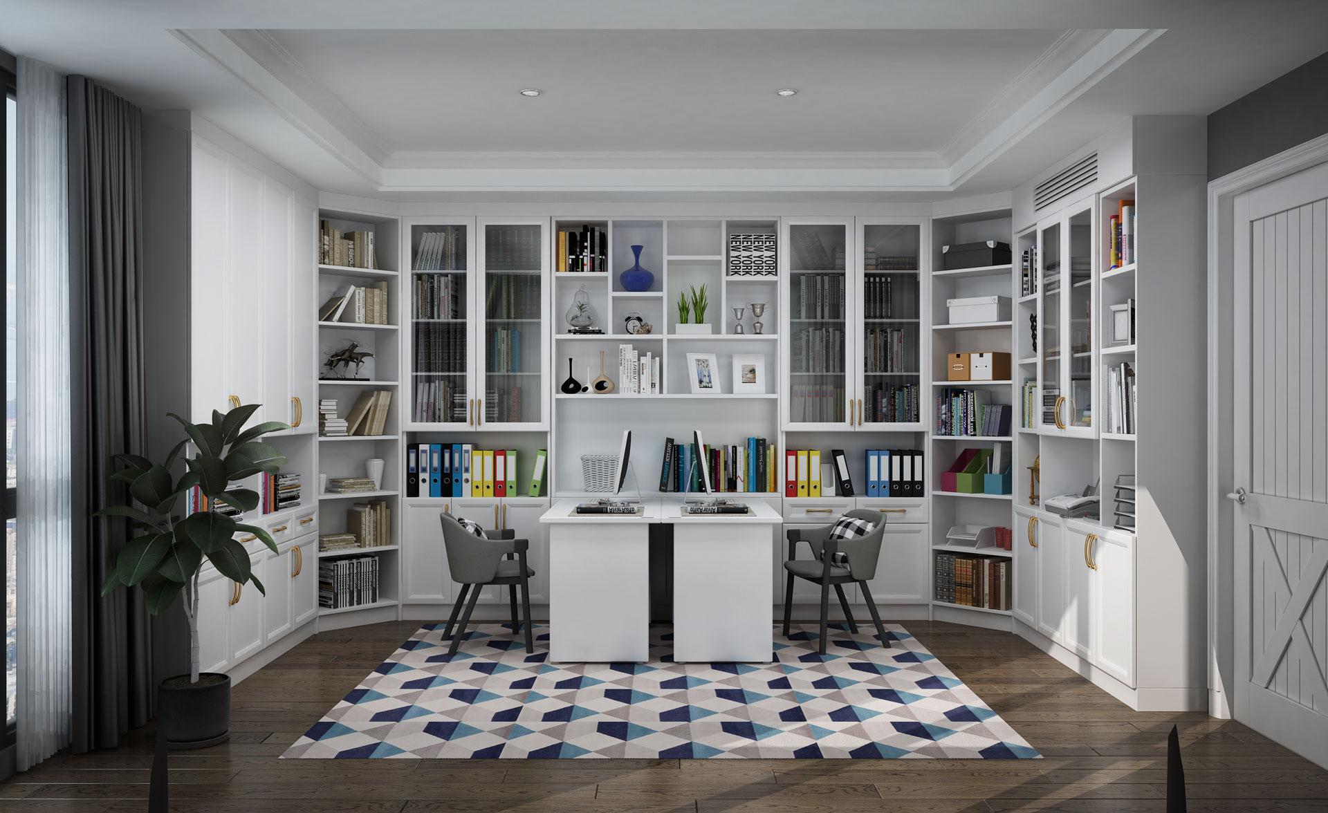全铝简欧书房书柜