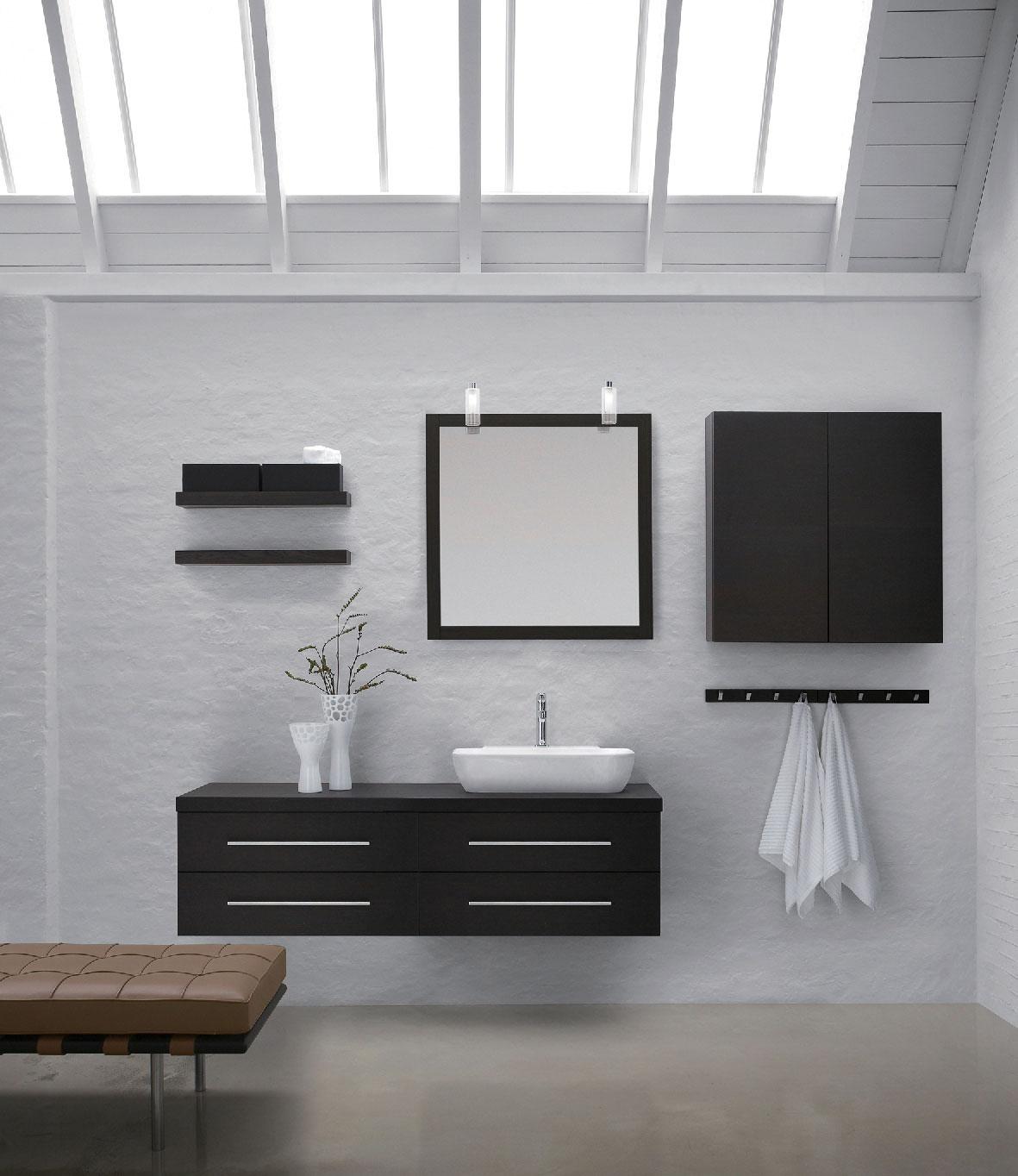 全铝黑色卫浴柜