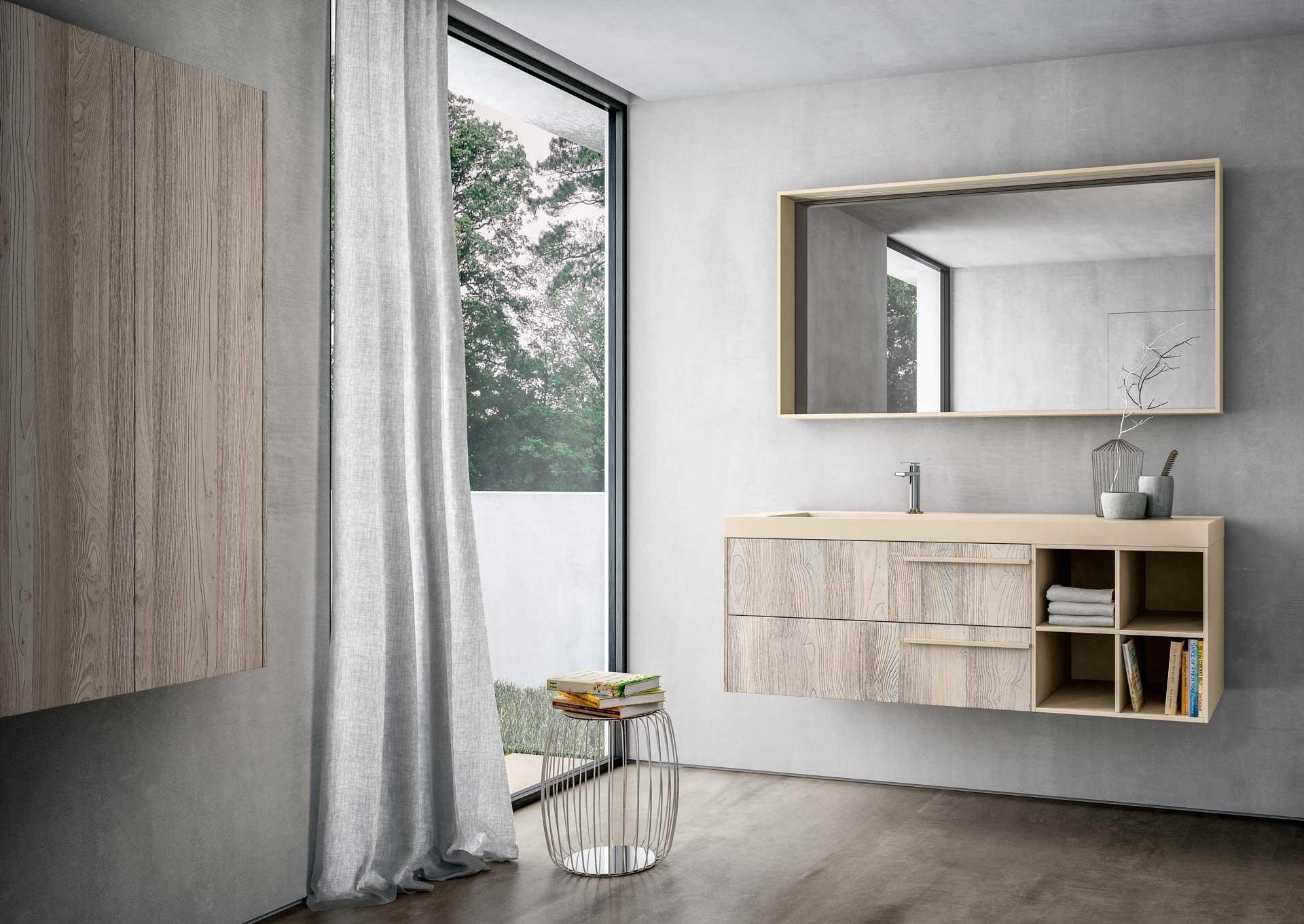 全铝原木色浴室柜
