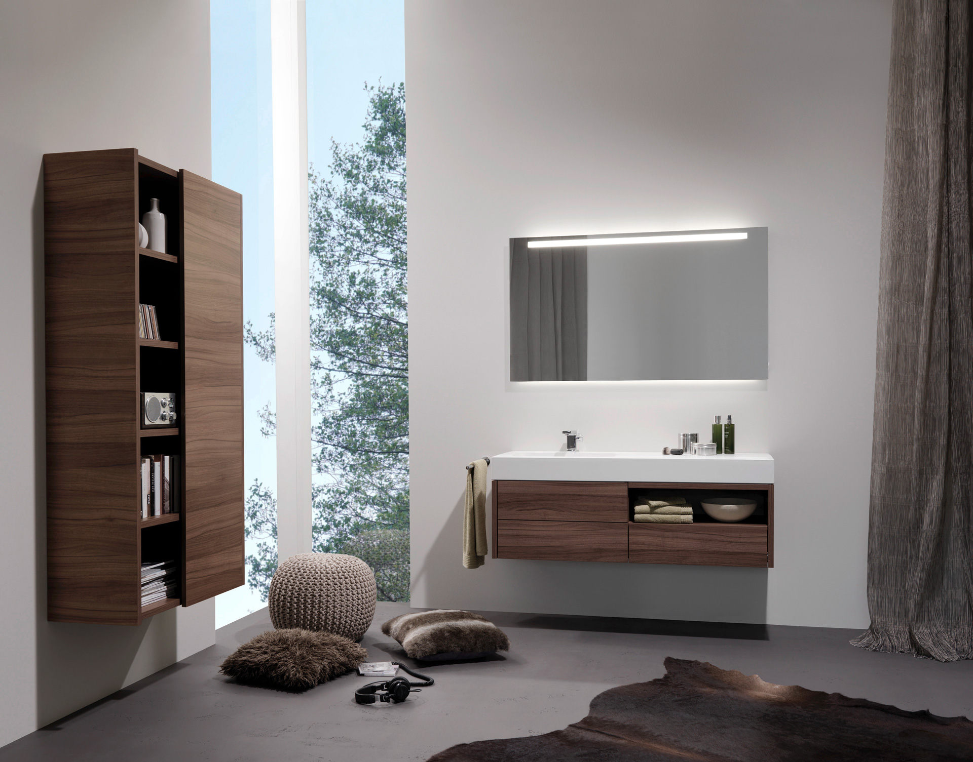 全铝极简卫浴柜2