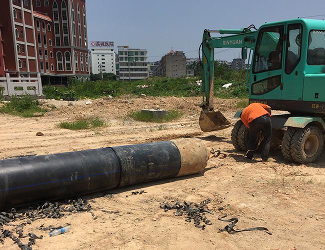 非开挖PE管道施工