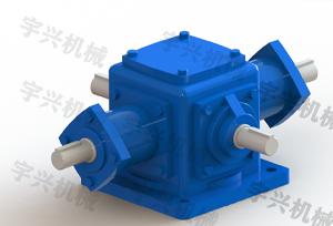 4轴T系列螺旋齿轮换向器