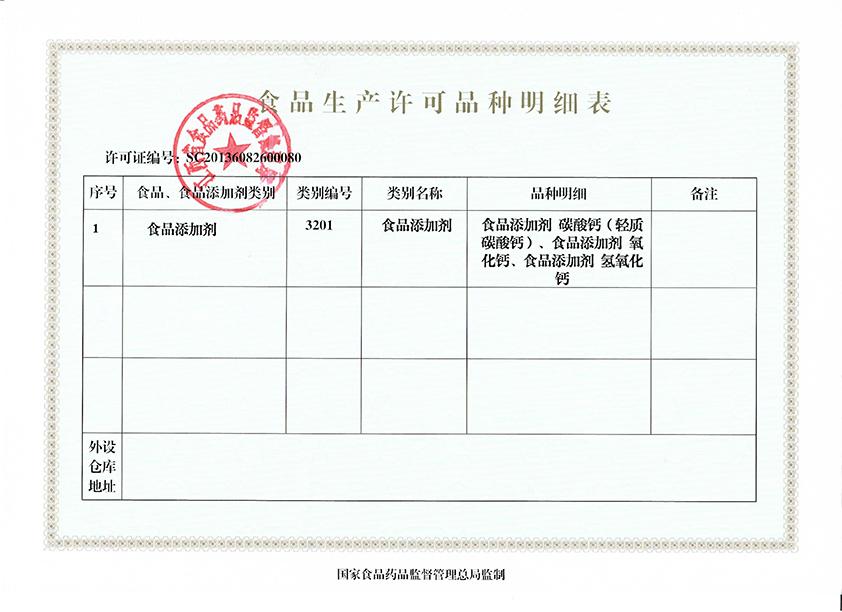 食品生产许可