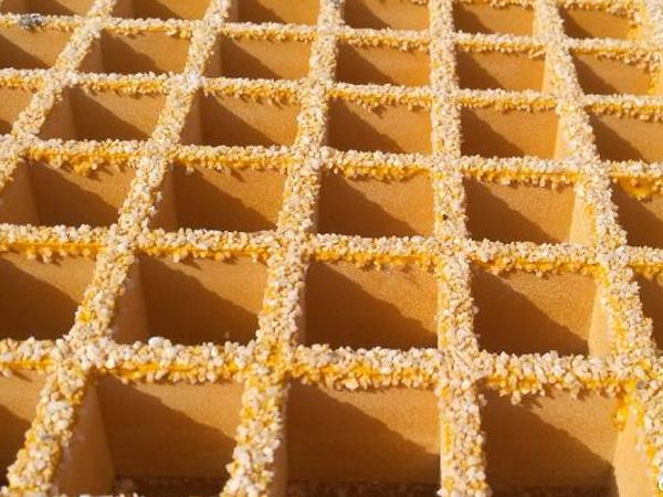 防滑铺砂玻璃钢格栅