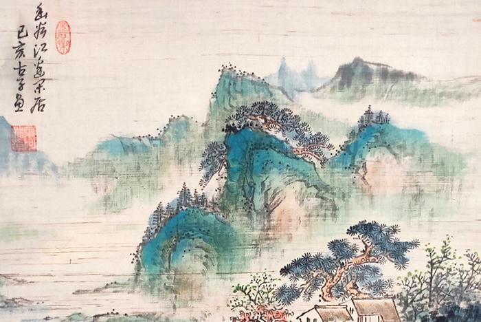 叶阿林四平尺作品《幽谷江边乐居 》