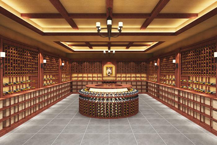 高端实木酒窖设计