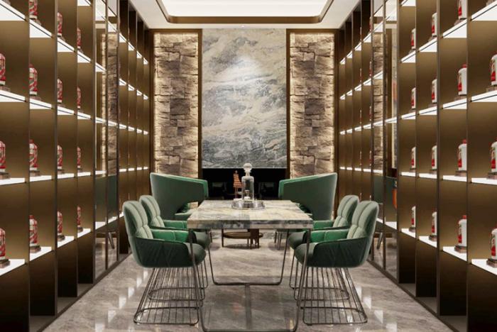 北京鲁彩餐厅酒窖 金属亚克力现代酒窖