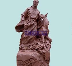 吉安孔佑救鹿雕塑泥稿