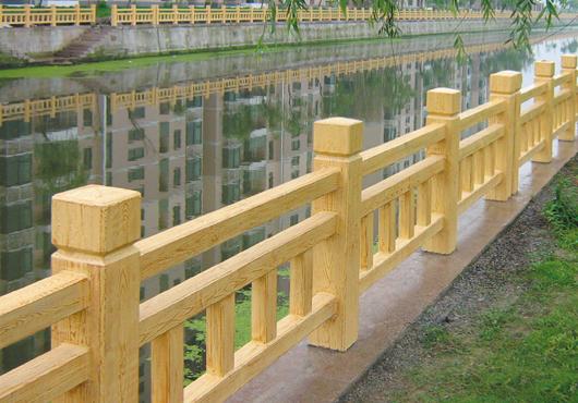 吉安河道水泥仿木护栏