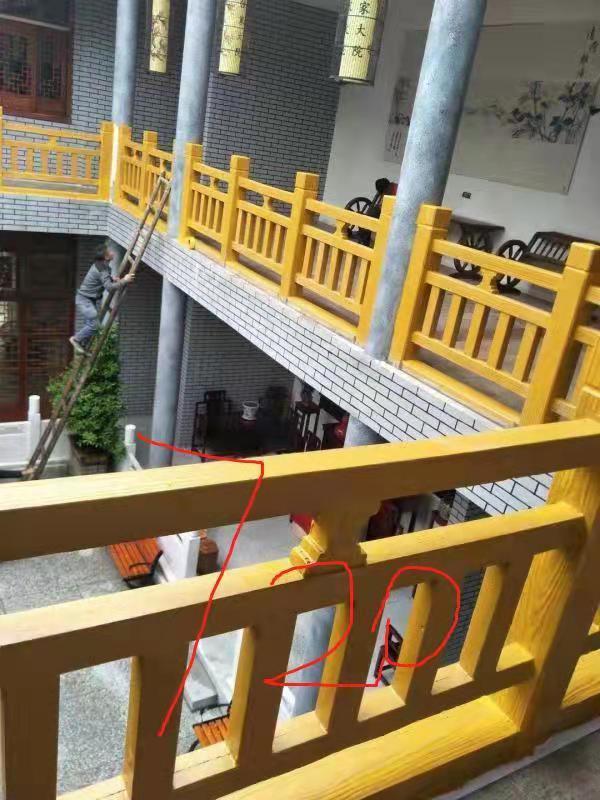 楼梯仿木护栏