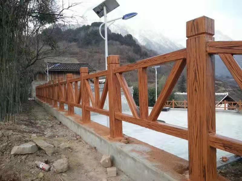 河道仿木护栏