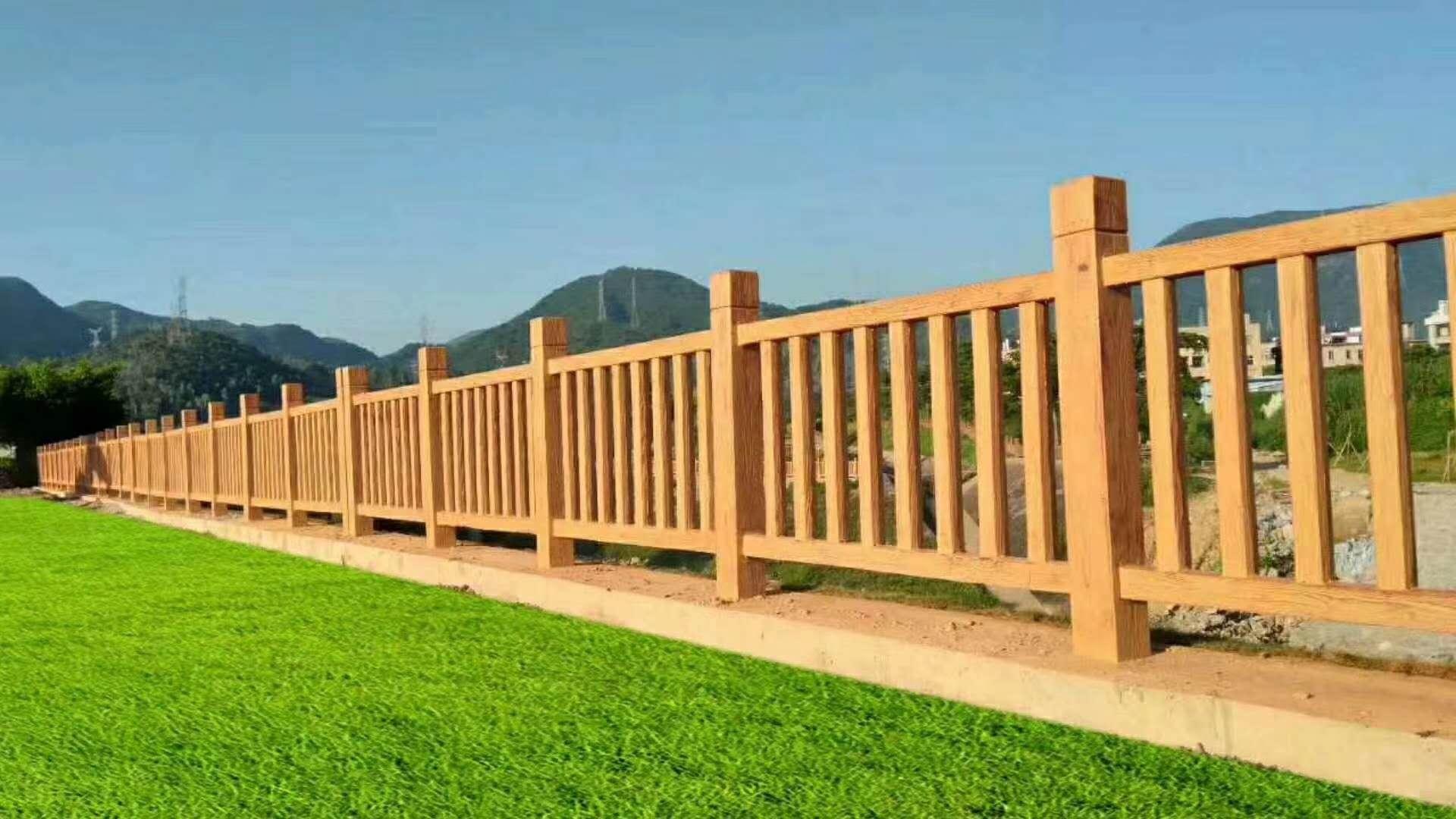 吉安仿木护栏仿木围栏栏杆最新资讯