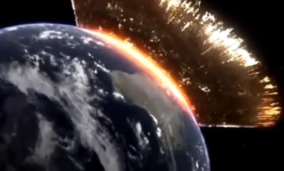 火星撞地球三维动画