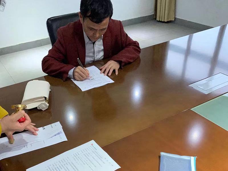 客户现场签订合同--江西