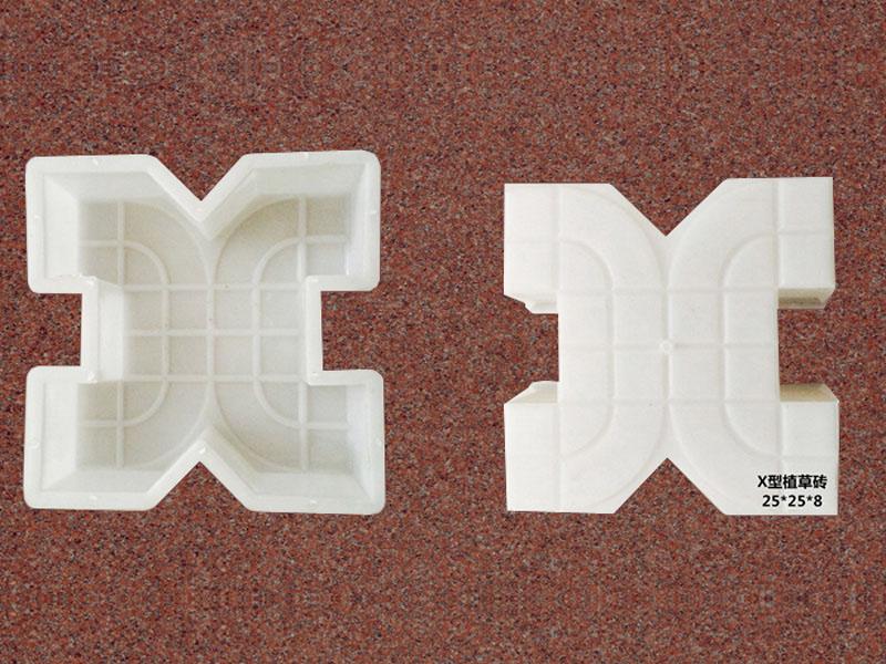 X型植草砖:25x25x8
