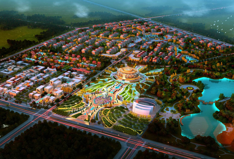 新疆達坂城西部歌城小鎮