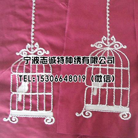 绳绣鸟笼图案