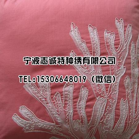 绳绣枕头花纹