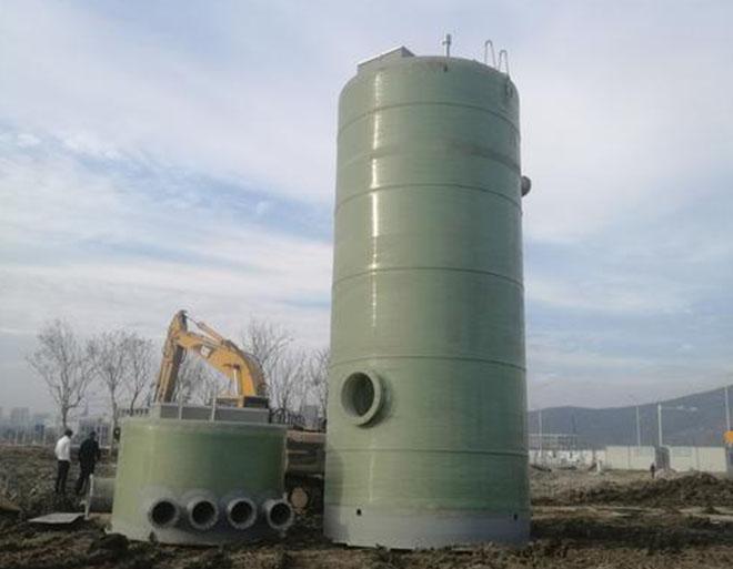 玻璃钢地埋式污水泵站