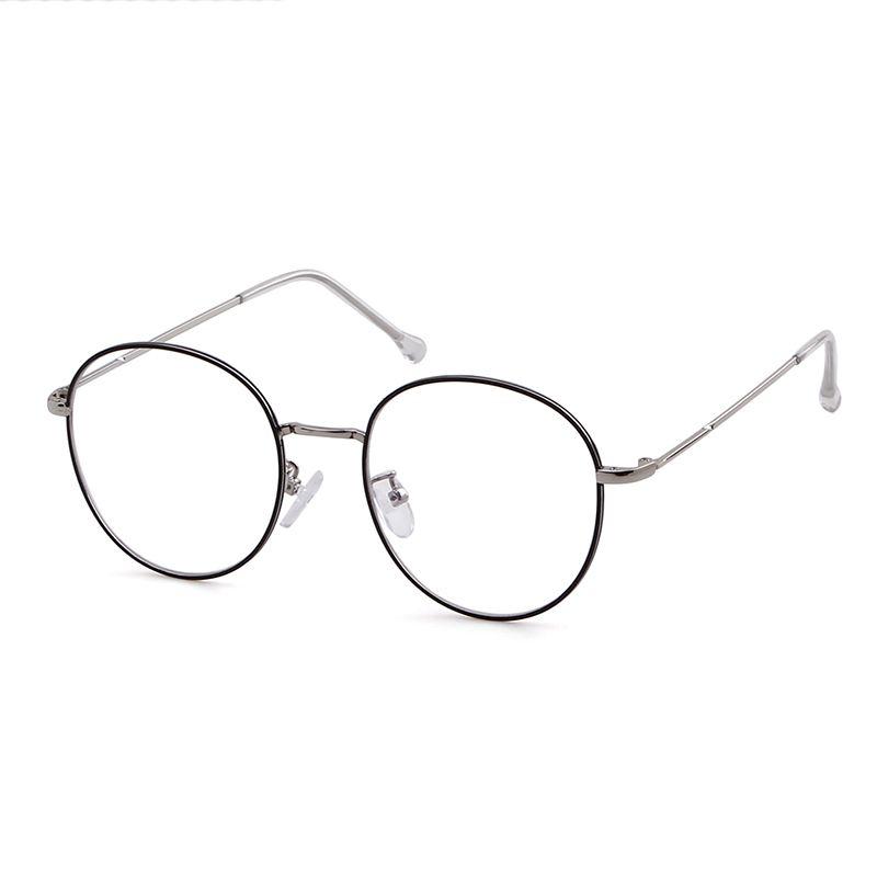 3043黑银全框近视眼镜架