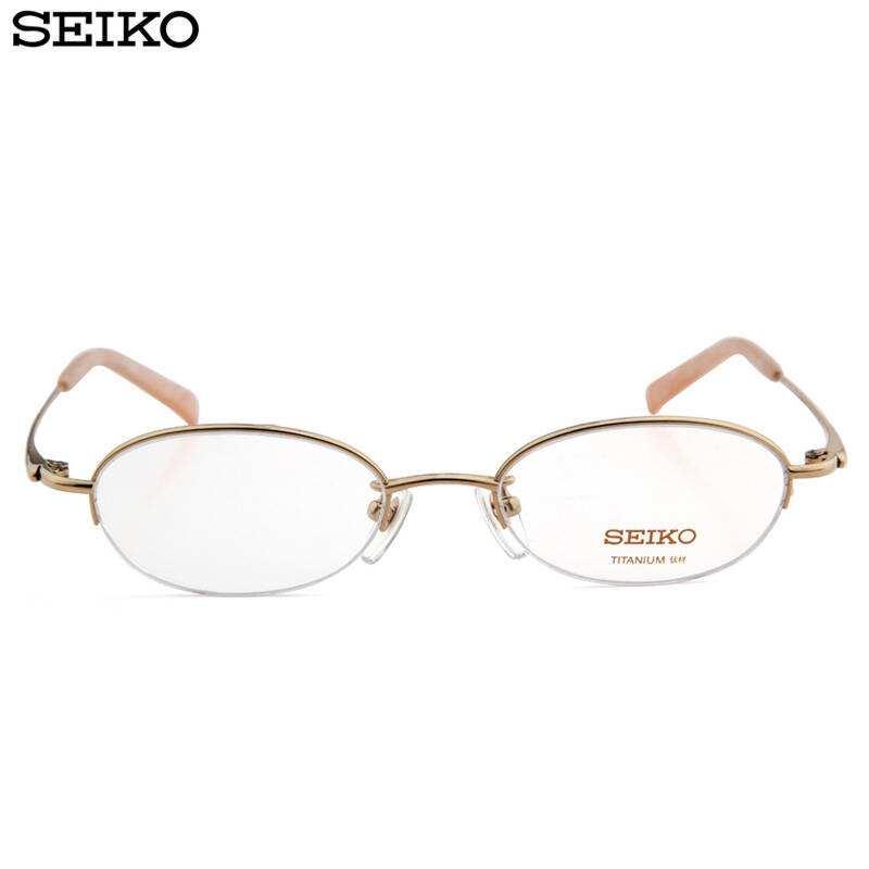 8082金色半框近视眼镜镜架