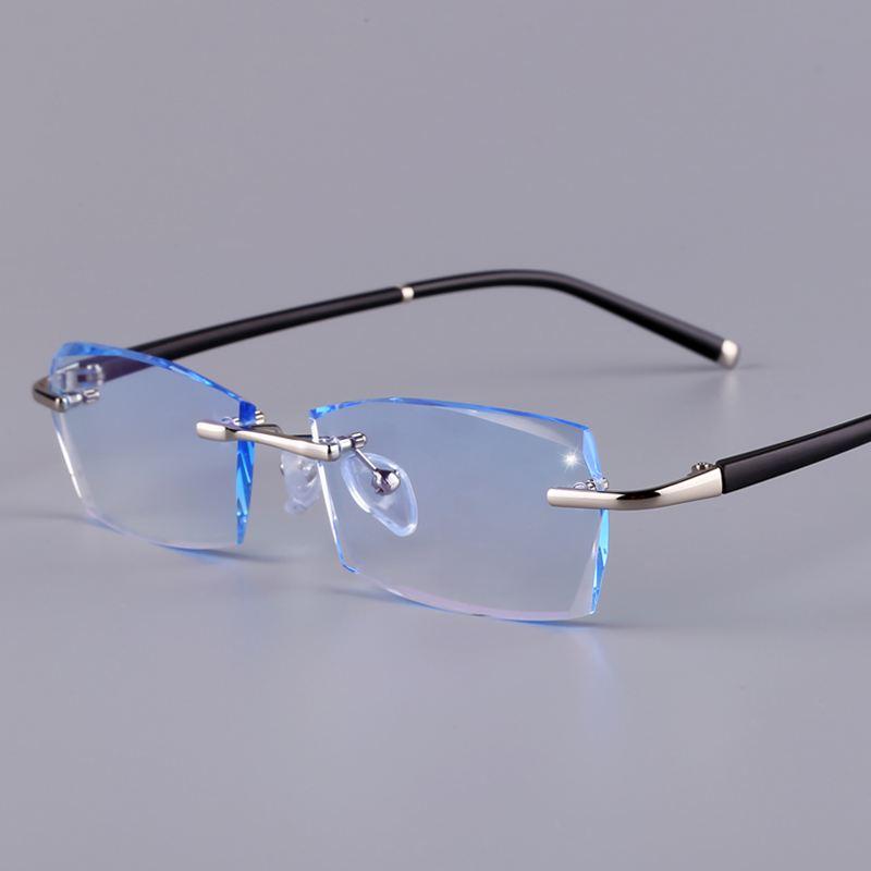 6037无框近视眼镜镜架