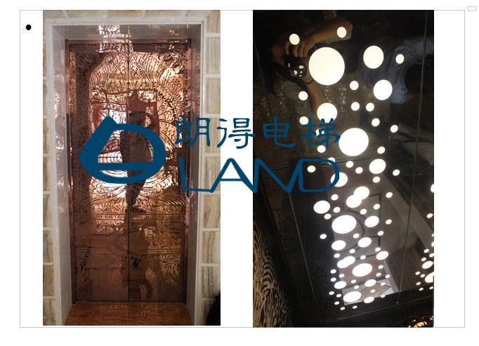 佛山容贵新世纪别墅区电梯装饰装潢案例
