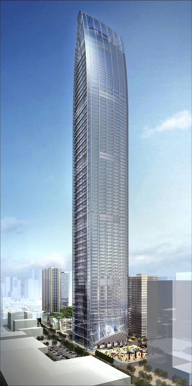 深圳京基100大厦-74台朗得大功电梯空调完工验收