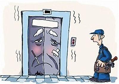 注意:异物卡门很容易导致电梯故障